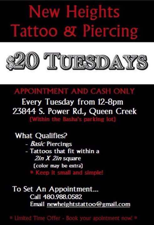 tattoo and piercing shops in queen creek az