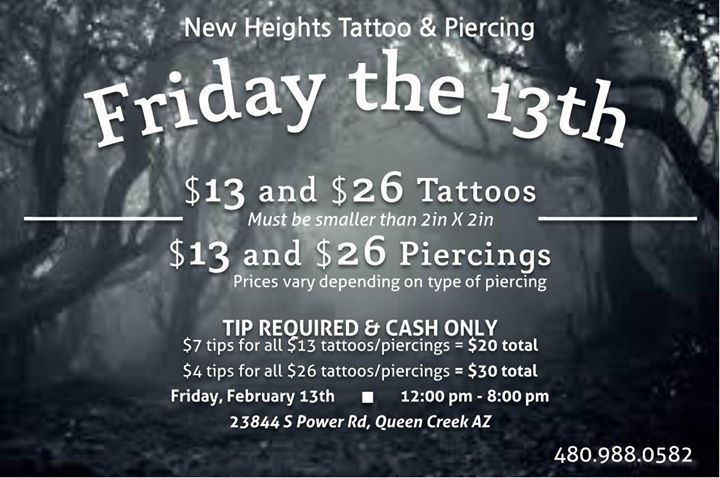 Friday The 13th Tattoos 2015